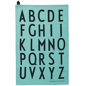 Design Letters Arne Jacobsen tea towels, turquoise, 2 pcs