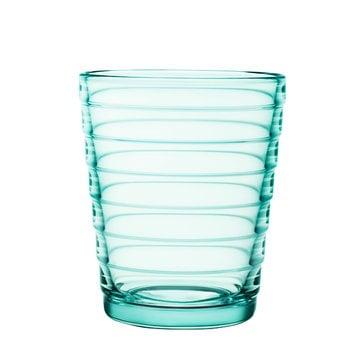 Iittala Bicchiere Aino Aalto 22 cl, verde acqua, 2 pz