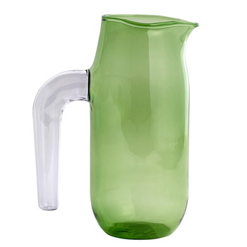 Hay Jug with lilac handle, L, green