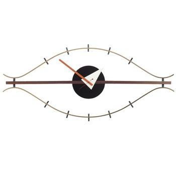 Vitra Eye Clock kello, messinki-pähkinä