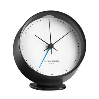 Georg Jensen HK clock with alarm, black