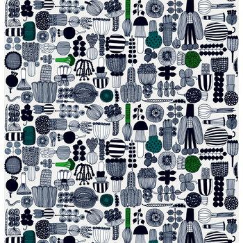 Marimekko Tessuto Puutarhurin parhaat, nero-verde