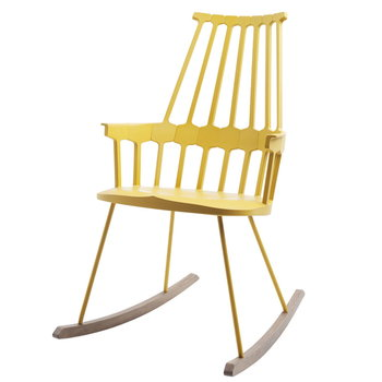 Kartell Comback Rocking chair, yellow