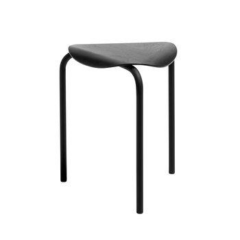 Artek Lukki stool, black lacquered