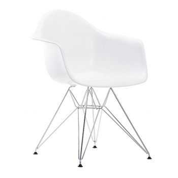 Vitra Eames DAR tuoli, valkoinen-kromi