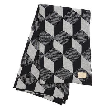 Ferm Living Squares blanket, black