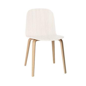 Muuto Visu chair, wood frame, white-natural