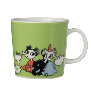 Arabia Moomin mug Thingumy and Bob, lime
