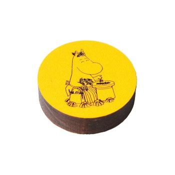 Kotonadesign Wooden magnet Muumimamma, yellow