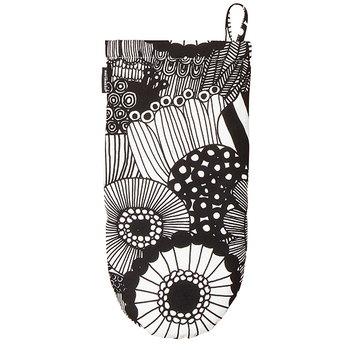 Marimekko Pieni Siirtolapuutarha oven mitten, black - white