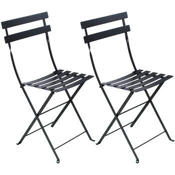 Bistro Metal tuoli, 2 kpl, liquorice