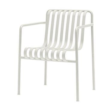 Palissade käsinojallinen ruokapöydän tuoli, kermanvalkoinen
