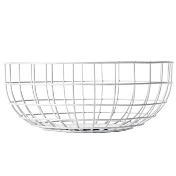 Menu Norm Wire Bowl, white