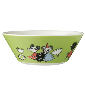 Arabia Moomin bowl, Thingumy and Bob, lime