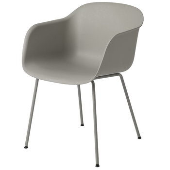 Muuto Fiber armchair, tube base, grey