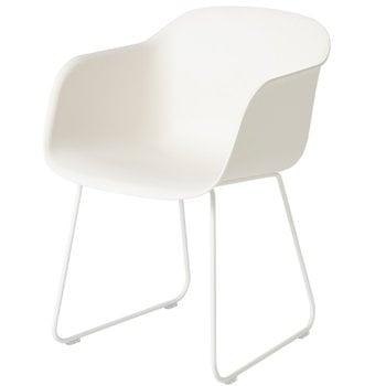 Muuto Fiber armchair, sled base, white