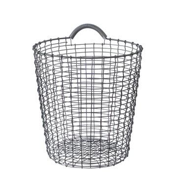 Korbo Wire Basket Bin 18, galvanized