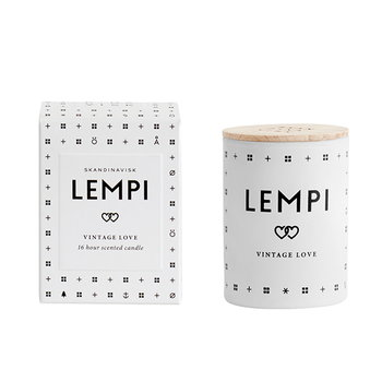 Skandinavisk Scented candle with lid, LEMPI, small