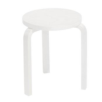 Artek Sgabello Aalto 60, laccato bianco