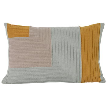 Ferm Living Angle Knit cushion, curry