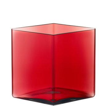 Iittala Ruutu vase, 205 x 180 mm, cranberry