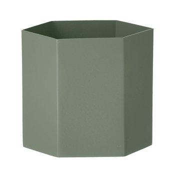 Ferm Living Hexagon pot L, dusty green