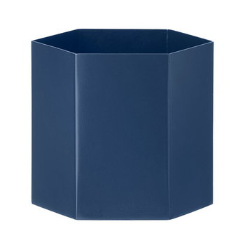 Ferm Living Hexagon pot L, blue