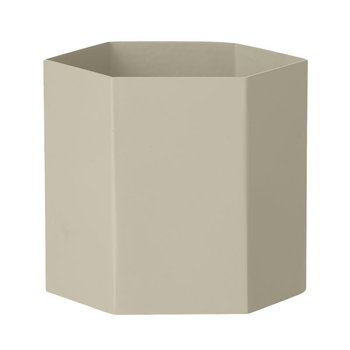 Ferm Living Hexagon pot L, grey