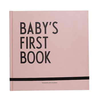 Design Letters Baby's First Book, pink