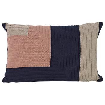 Ferm Living Angle Knit cushion, dark blue