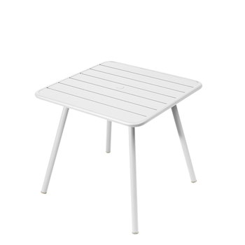 Fermob Luxembourg table, 80 x 80 cm, cotton white