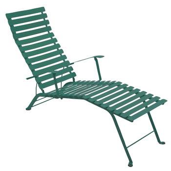 Fermob Bistro Metal chaise longue, cedar green