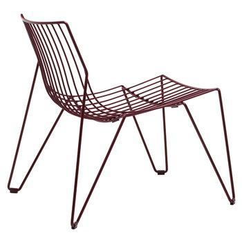 Massproductions Tio nojatuoli, viininpunainen