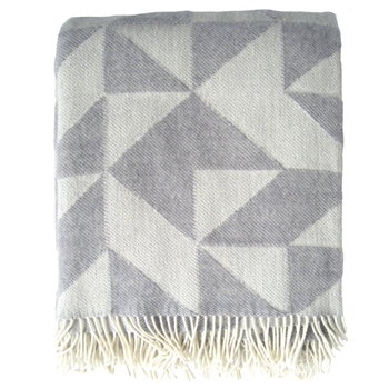 Ratzer Twist a Twill blanket, light grey