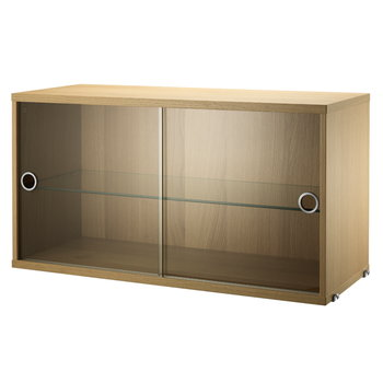 String String display cabinet, oak