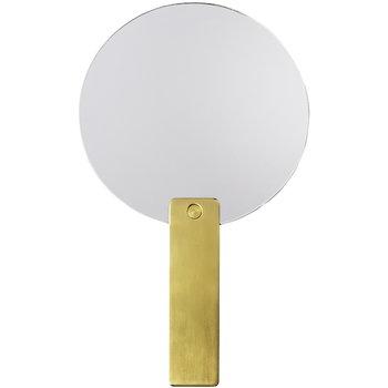 Hay Mirror Mirror round, brass