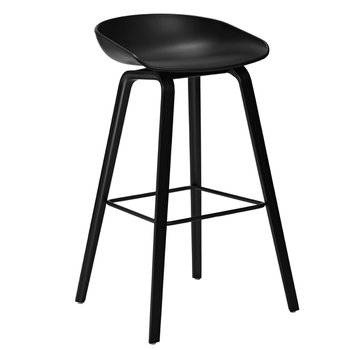 Hay About a Stool bar stool, AAS32, black