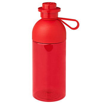 Room Copenhagen Lego drinking bottle, transparent, red