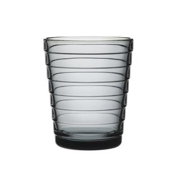 Iittala Aino Aalto juomalasi 22 cl, harmaa, 2 kpl