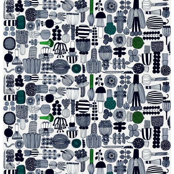 Marimekko Ebony Laukku : Marimekko puutarhurin parhaat fabric black green