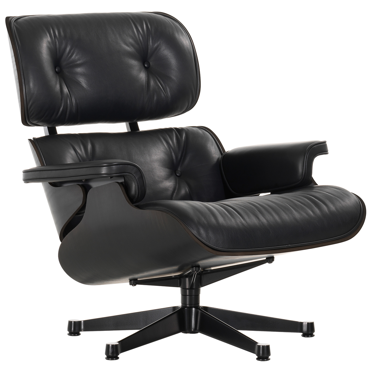Marvelous Vitra Eames Lounge Chair Classic Size Black Ash Black Bralicious Painted Fabric Chair Ideas Braliciousco
