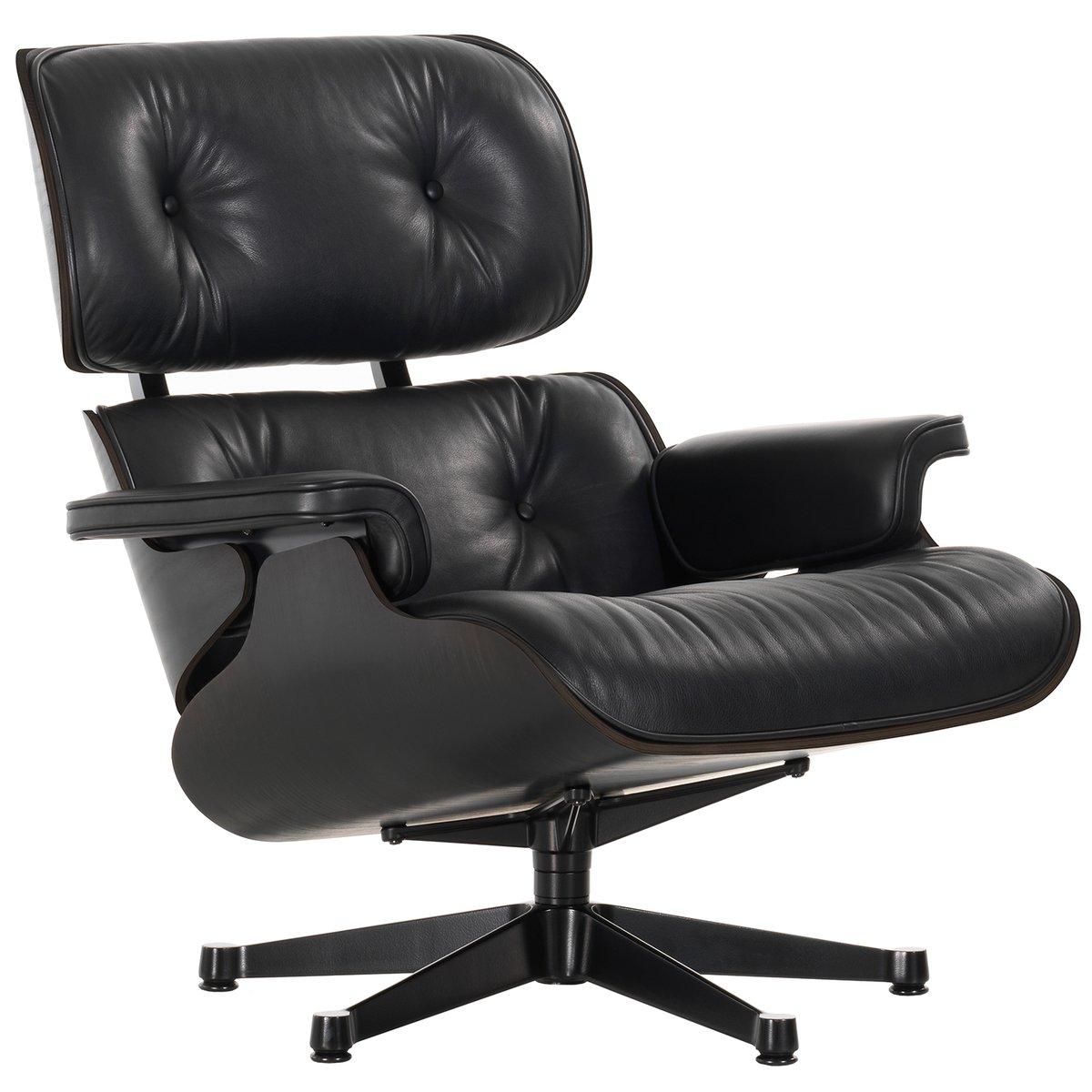 Astonishing Vitra Eames Lounge Chair Classic Size Black Ash Black Uwap Interior Chair Design Uwaporg