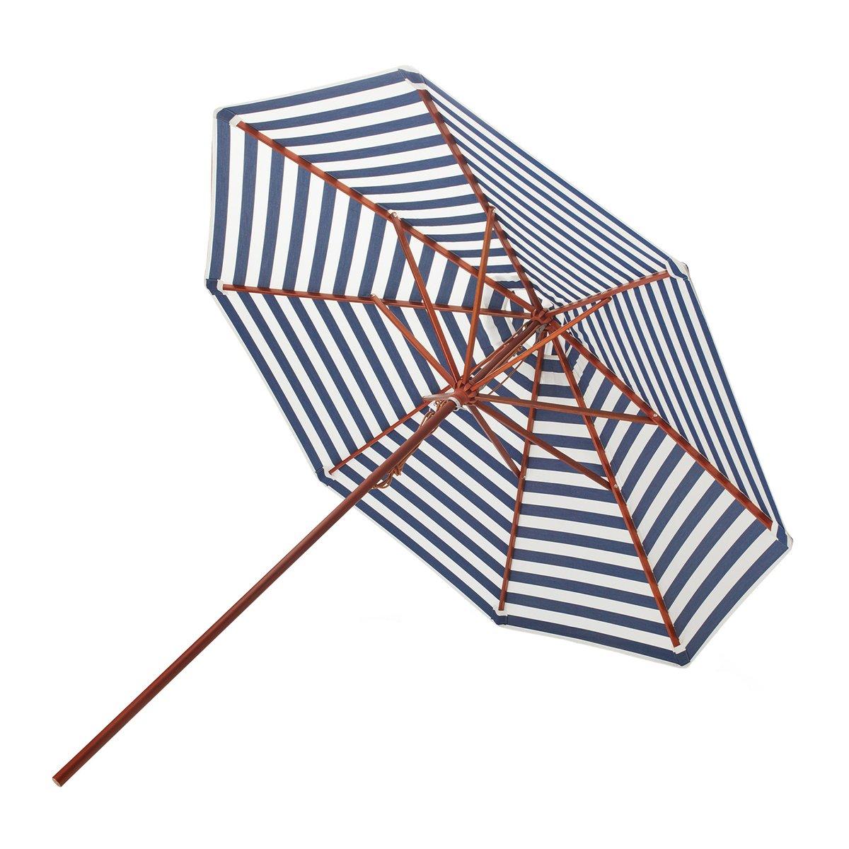 Skagerak Messina Parasol Ø 270 Cm, Striped, Blue - White