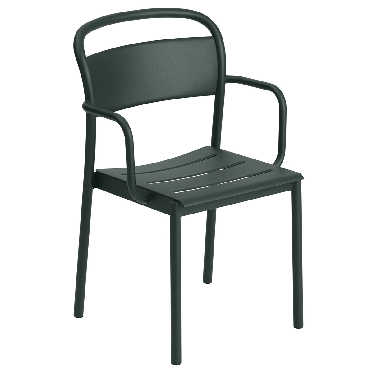 Muuto Linear Steel Armchair, Dark Green