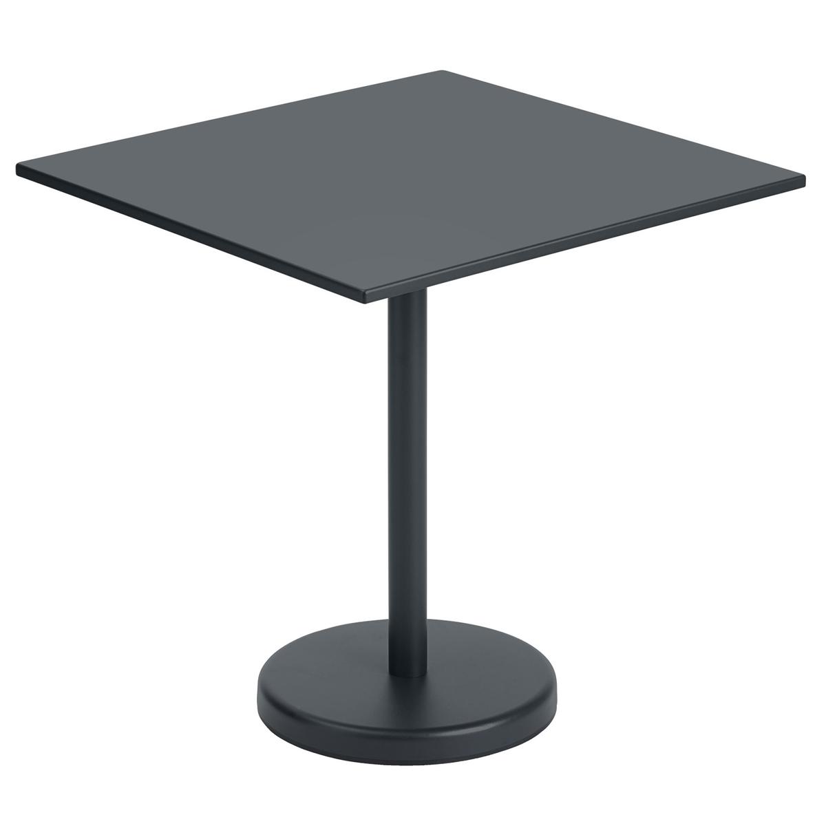 Muuto Linear Steel Café Table 70 X 70 Cm, Black