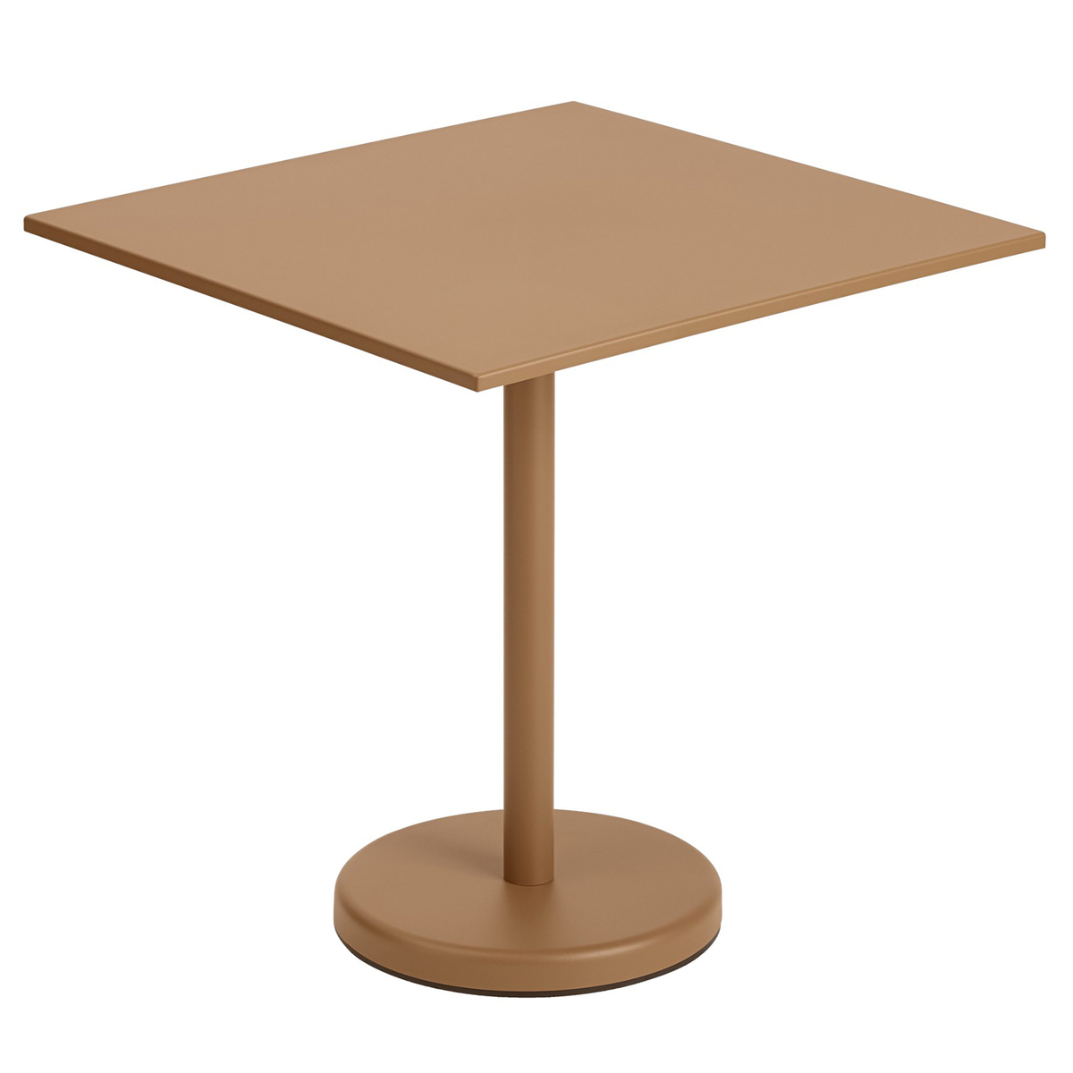 Muuto Linear Steel Café Table 70 X 70 Cm, Burnt Orange