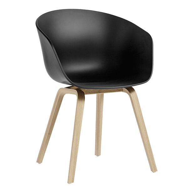 Hay About A Chair AAC22 tuoli, soft black - mattalakattu tammi