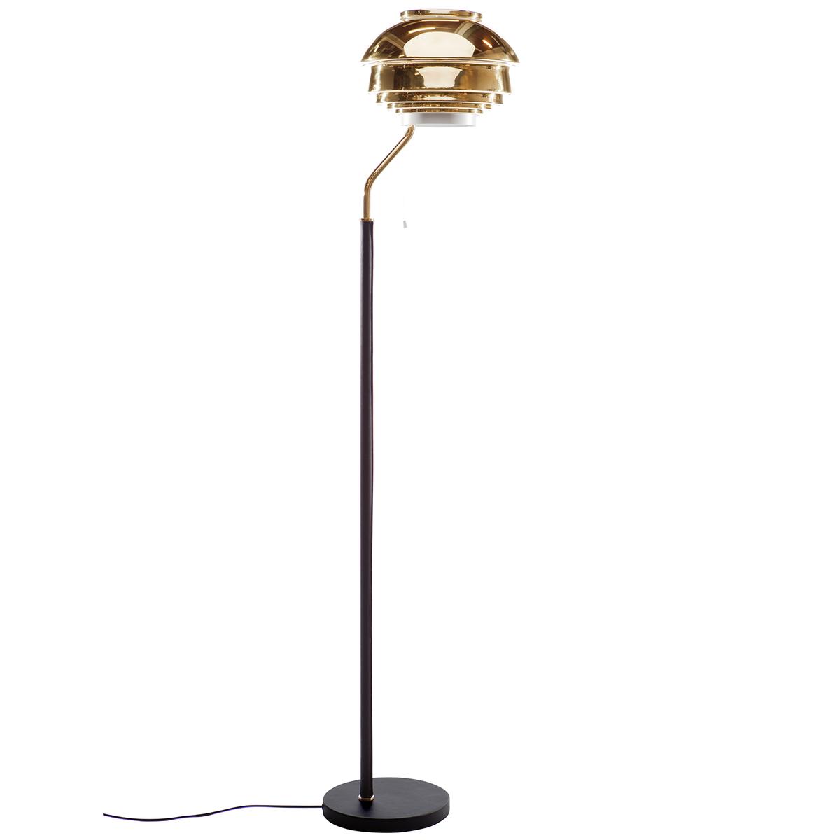 Artek Aalto Floor Lamp A808, Brass
