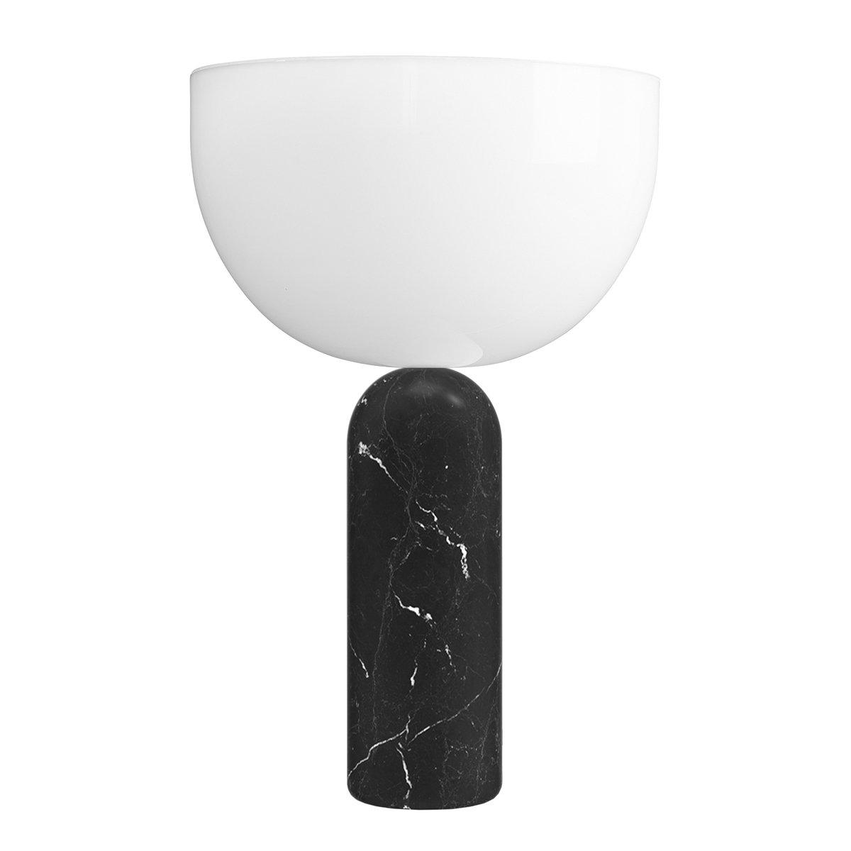 New Works Kizu Table Lamp Small Black Marble Finnish