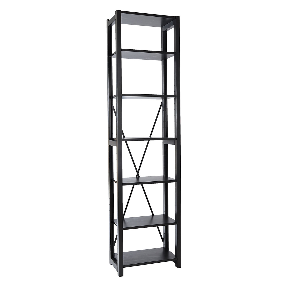 Classic Open Shelf Narrow Black